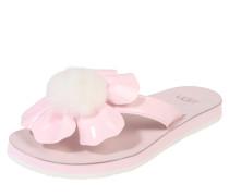 Zehentrenner 'Poppy' rosa / weiß