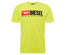 T-Shirt 'T Just Division' gelb