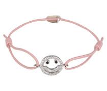 Armband 'Happy Face' rosa