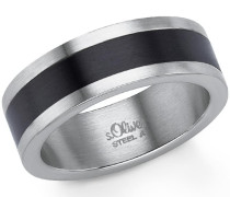Fingerring schwarz / silber