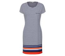 Kleid 'Harewood' navy / orangerot / weiß