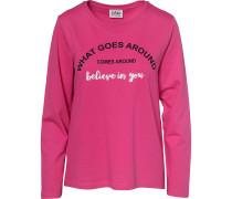 Sweatshirt pink / schwarz / weiß
