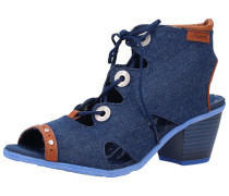 Sandalen blue denim / cognac