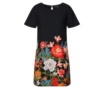 Kleid grasgrün / rot / schwarz