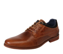 Halbschuhe in dezenter Used-Optik cognac