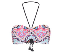 Bikinitop 'DD Bandeau' hellblau / pink