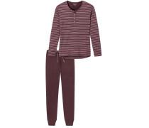 Schlafanzug kirschrot
