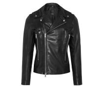 Jacke 'Lense Summer Leather' schwarz