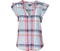 Bluse hellblau / rosa / weiß