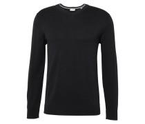 Pullover 'Basic CO V-nk' schwarz