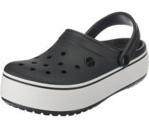 Clogs 'Crocband' schwarz / weiß