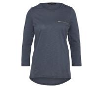 Shirt 'malka ZIP 3/4 TOP Exp' taubenblau