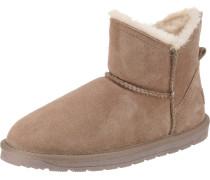 Boots 'Luna low' beige / hellbraun