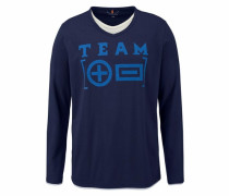2-in-1-Langarmshirt blau / kobaltblau / dunkelblau