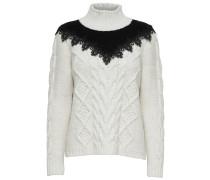 Pullover schwarz / wollweiß
