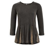 Shirt 'sabrina' hellbraun / basaltgrau