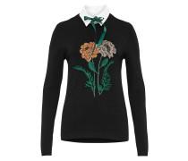 Pullover grün / orange / schwarz / weiß