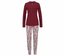 'Natalie' Pyjama weinrot