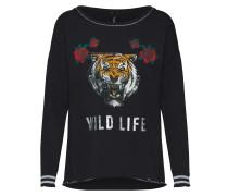 Sweatshirt mischfarben / schwarz