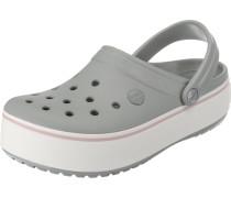 Clogs 'Crocband' grau / rosa / weiß
