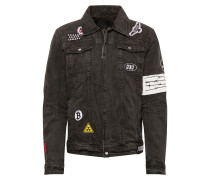 Jacke 'BEdusty D' black denim