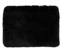 Fake-Fur-Tasche schwarz
