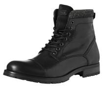 Leder-Stiefel schwarz