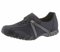 Sneaker dunkelblau / silber
