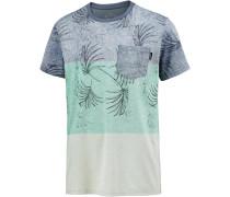 'Kasey' T-Shirt blaumeliert