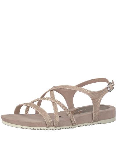 Sandale geflochten altrosa