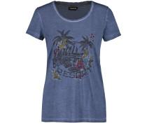 T-Shirt taubenblau / mischfarben