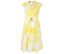 Kleid gelb / weiß