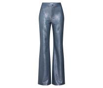 Hose 'Nyx Lurex Trouser' blau