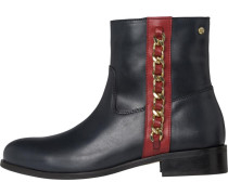 Boots navy / gold / rot