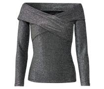 Shirt 'Lurex Carmen Crossover' schwarz