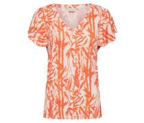 Shirt 'Ninna' orange / weiß