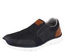Slip-On-Sneaker nachtblau / braun