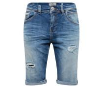 Jeansshort 'lance' blue denim