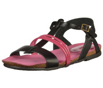 Sandalen pink / schwarz