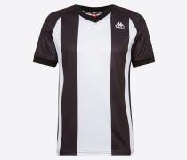 T-Shirt 'authentic Keller' schwarz / weiß