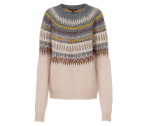 Pullover 'norwegian' mischfarben / puder