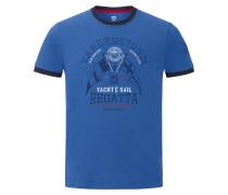 T-Shirt 'Rael' blau / schwarz