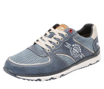 Sneaker mit Kontrastnähten taubenblau