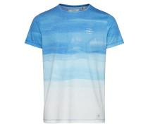 T-Shirt 'LM Photo ART T-Shirt' blau / weiß