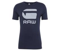 T-Shirt 'Drillon' dunkelblau / weiß