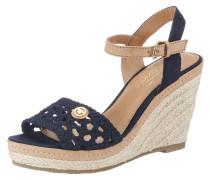 Sandale hellbeige / kobaltblau