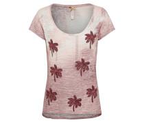 Shirt mit Paillettenbesatz rosa