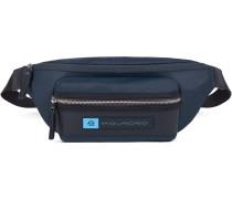 PQ-Bios Gürteltasche Leder 33 cm blau