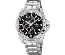 Uhr 'f20445/3' schwarz / silber
