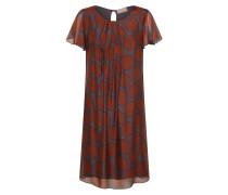 Kleid rostbraun / basaltgrau